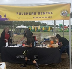 Fulshear Dental team at community event
